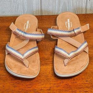 EUC Merrell multicolored sandals sz 8